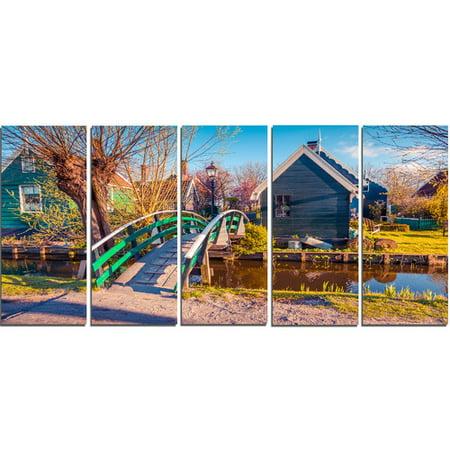 Design Art 'Dutch Buildings in Zaanstad Village' 5 Piece Photographic Print on Wrapped Canvas Set ()
