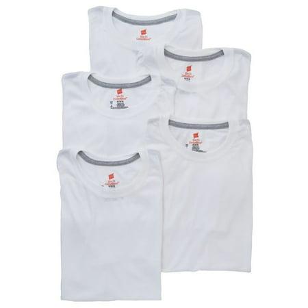 Men's Hanes YST1W5 ComfortBlend Slim Fit Crew T-Shirts - 5