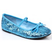 Blue Sequin Girl's Ballet Flats by Generic