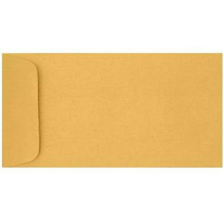 - 6 x 11 1/2 Open End Envelopes - 24lb. Brown Kraft (50 Qty.)
