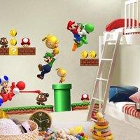 Super Mario Bros Yoshi Kids Removable Wall Decals Sticker Home Decor Nursery