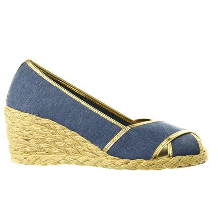 730afe64d788 LAUREN Ralph Lauren Cecilia II Espadrille Wedge Sandal Shoe - Womens -  Walmart.com