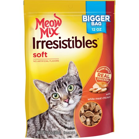 Meow Mix Irresistibles Cat Treats - Soft With White Meat Chicken, 12-Ounce (Cat Soft Cream)