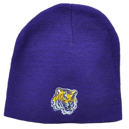 9503195484315 NCAA Louisiana State Tigers LSU Purple Knit Beanie Cuffless Hat Winter  Skully - Walmart.com