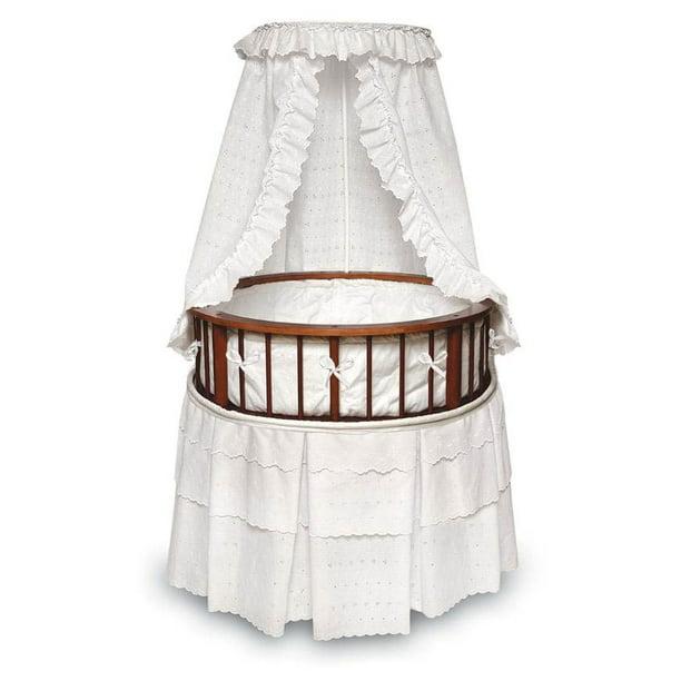 Badger Basket Cherry Elegance Round, Badger Basket Round Bassinet Bedding