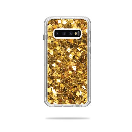 Skin For Lifeproof Next Case Samsung Galaxy S10+ - Gold Chips   MightySkins Protective, Durable, and Unique Vinyl Decal wrap cover   Easy To Apply, Remove, and Change Styles (Rank Samsung Chips)