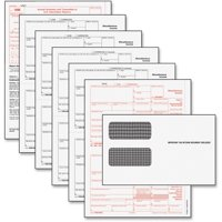 TOPS, TOP22905KIT, 5-part IRS 1099 Misc Laser Forms Tax Kit, 24 / Pack, White
