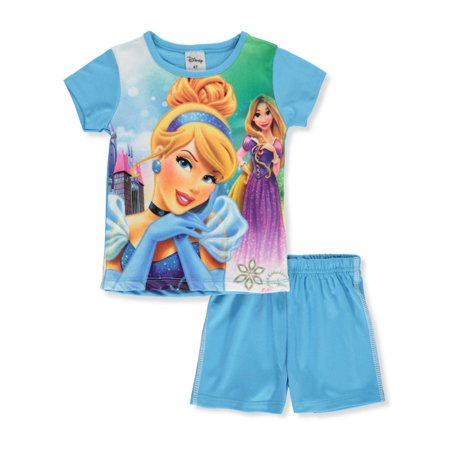 Disney Princess Girls' 2-Piece Shorts Set Outfit