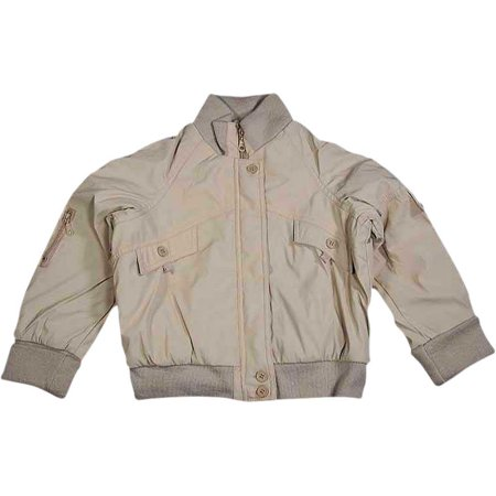 Private Label - Little Girls Zip Front Faux Leather Jacket BEIGE / 5 (Faux Leather Girls Jacket)