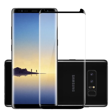 Samsung Galaxy Note 8 Tempered Glass Screen Protector, TJS 9H Surface Hardness/Anti-Scratch/Shatterproof/Anti-Fingerprint/Water & Oil Resistant/LCD HD High Definition For Samsung Galaxy Note 8 (Definition Lcd Screen)