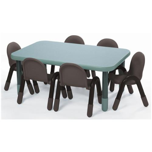 Rectangular Table in Teal Green (18 in.)