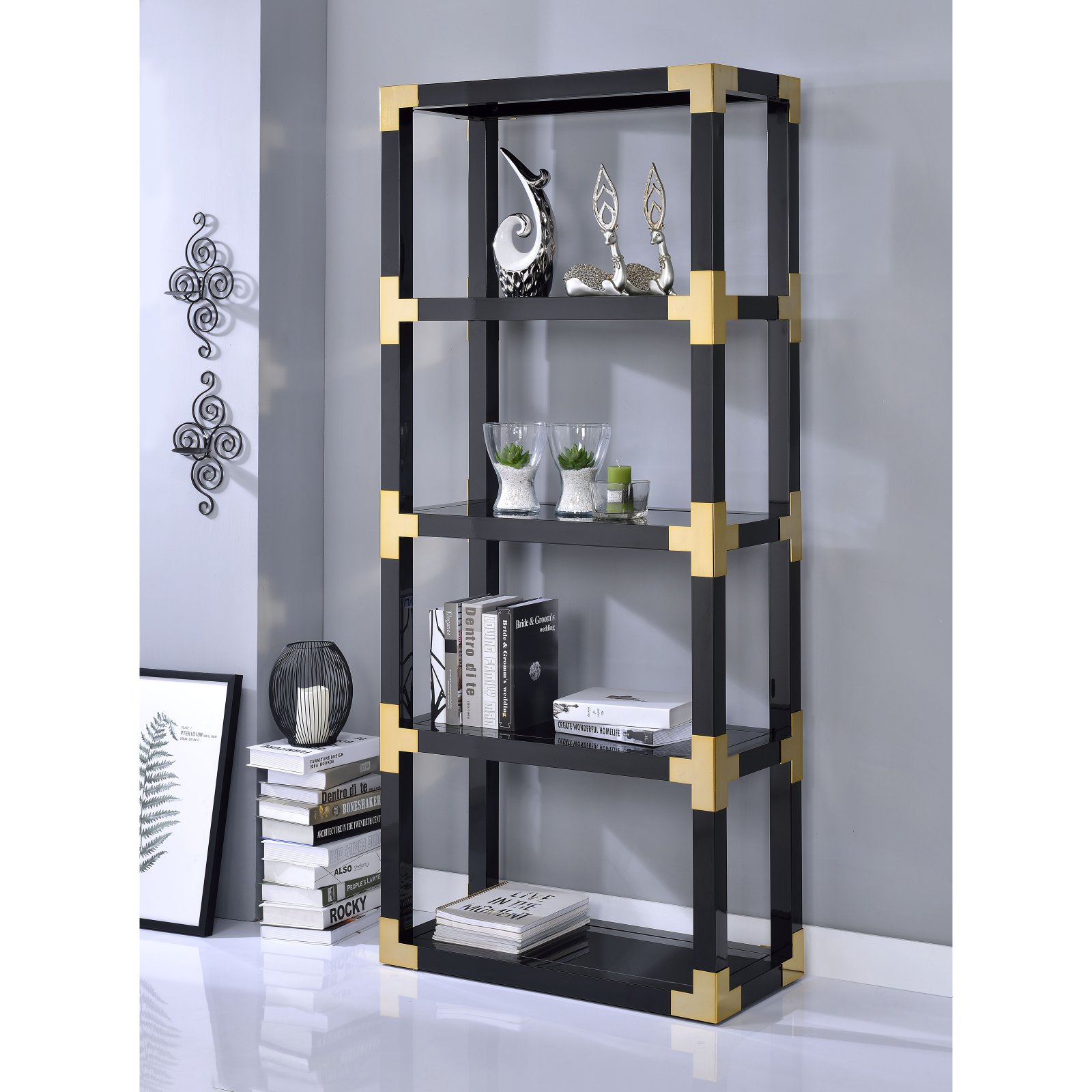 Acme Furniture Lalfy Etagere Bookcase by Acme Furniture