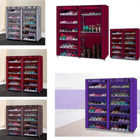 Ktaxon 6 Layer 12 Portable Shoe Storage Organizer Wardrobe Rack With Shelves Closet Closet Organizer Shoe Rack