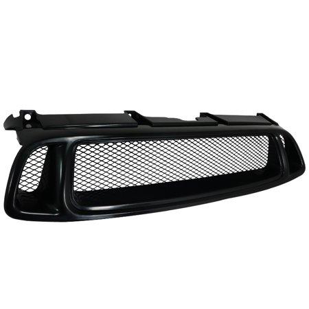2004-2005 subaru impreza black front hood aluminum mesh grill 04 05