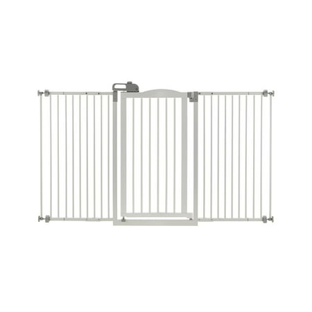 "Richell One-Touch Pressure Mounted Pet Gate, White, 32.1-62.8""L x 2""W x 38.4""H"
