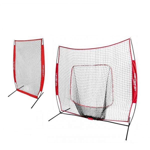 PowerNet 7x7 Baseball Softball Hitting Net Bundle with I-...