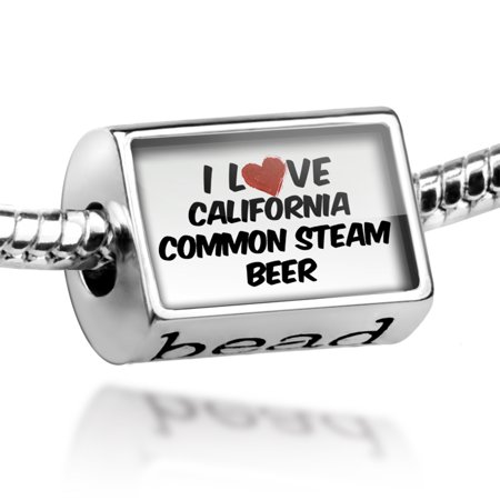 Bead I Love California Common Steam Beer Charm Fits All European Bracelets