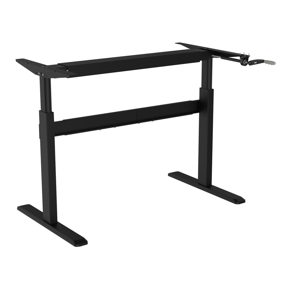 Coventry Manual Standing Desk Frame Sit Stand In Silver Up For Home And Office Compatible With Any Table Top
