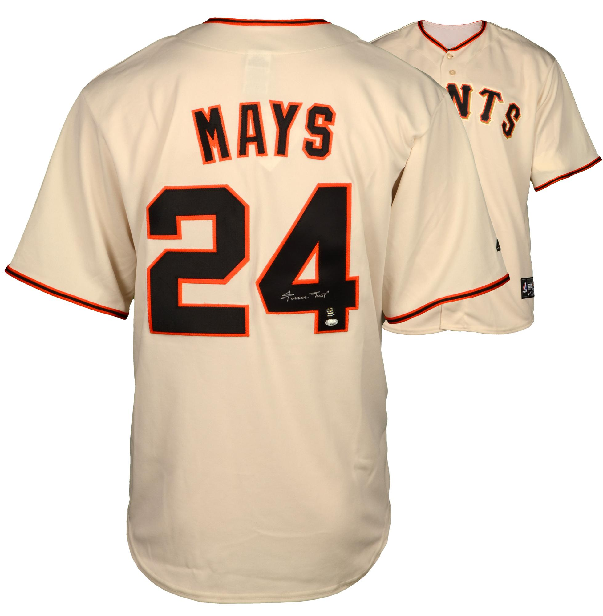 Willie Mays Autographed Authentic Jersey - Say Hey Holo - Player Hologram