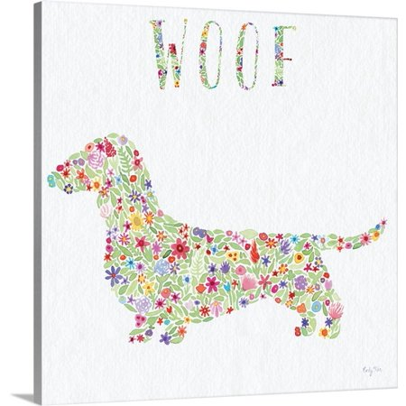 Great Big Canvas Carly Rae Studio Premium Thick Wrap Canvas Entitled Doxie   Woof