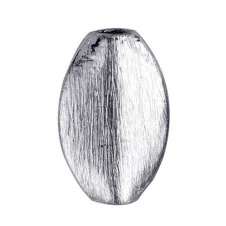 - BSF-171 Silver Overlay Oval Shape Brushed Bead