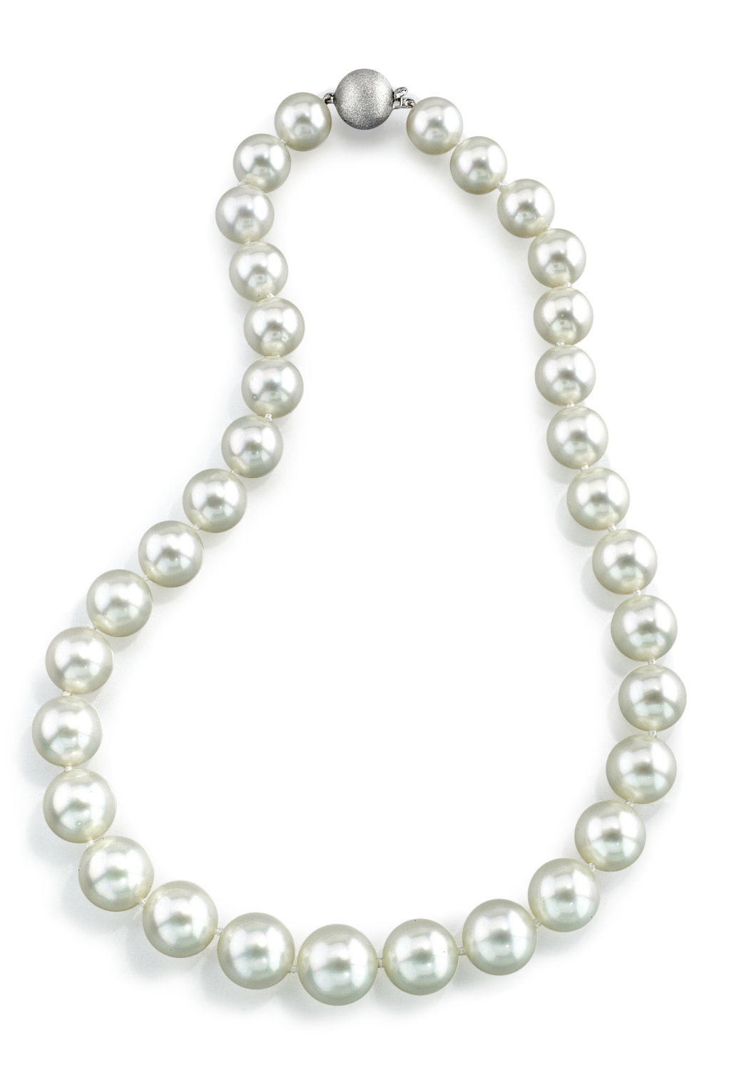 """14K Gold 11-13mm White South Sea Cultured Pearl Necklace AAA Quality, 20"""" Matinee Length by The Pearl Source"""