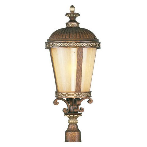 Livex Seville 863 Outdoor Post Head - Palatial Bronze with Gilded Accents