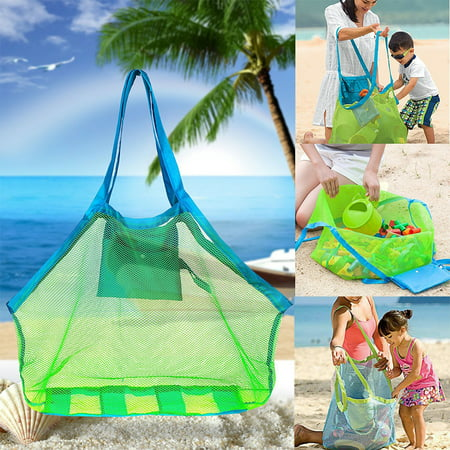 Durable Mesh Tote Bag Multifunction Storage Bag, Holding Toys Balls Children Toys Stay Away from Sand - Kids Specialty Stores