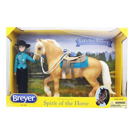 Breyer 1:9 Traditional Series Model Horse Set: Let's Go Riding, Western - Breyer Halloween Series