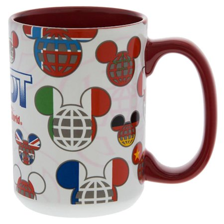 Disney Parks Epcot One Mouse One World Mickey Mouse Icons Coffee Mug Cup New