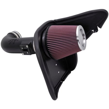K&N Performance Air Intake Kit 63-3074 with Lifetime Red Oiled Filter for 2010-2015 Chevrolet Camaro SS 6.2L
