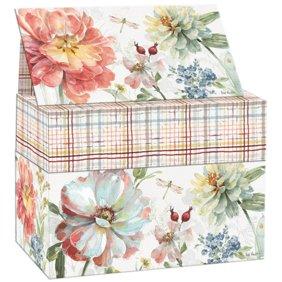 Recipe Box With 50 Count Floral Recipe Cards Recipe Card Box Recipe Boxes Wooden Recipe Box Walmart Com Walmart Com