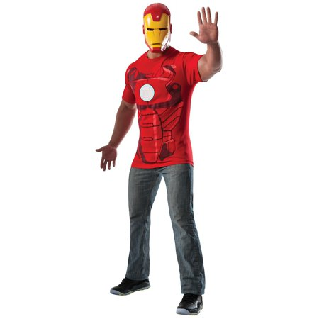 Superhero T-Shirt Adult Costume Iron Man - - Adult Super Hero Costumes