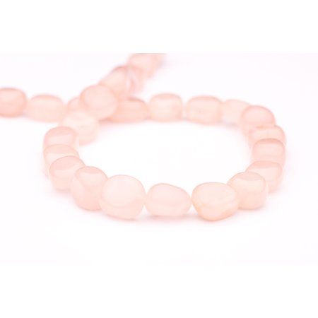 Peach Gemstone - Freeform - Shaped Peach Quartz Crystal Beads Semi Precious Gemstones Size: 14x12mm Crystal Energy Stone Healing Power for Jewelry Making