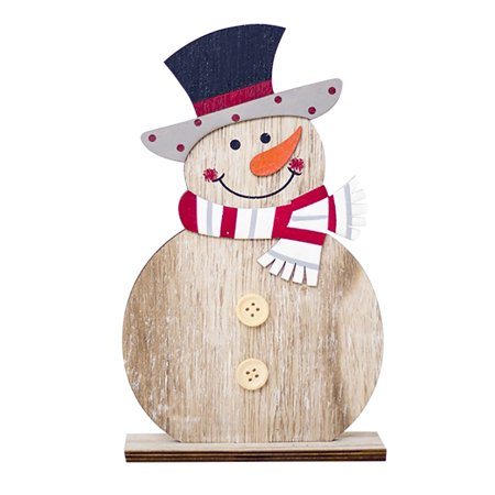 Snowman Christmas Decorations Wooden Shapes Ornaments Craft Xmas Gifts - Wooden Snowman Crafts