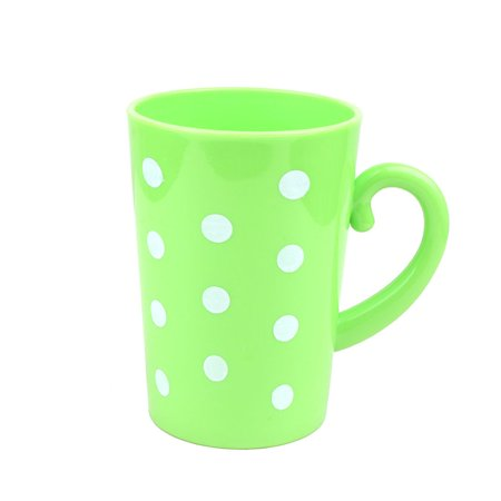 Household Bathroom Plastic Polka Dot Pattern Toothbrush Cup Washing Tool Green
