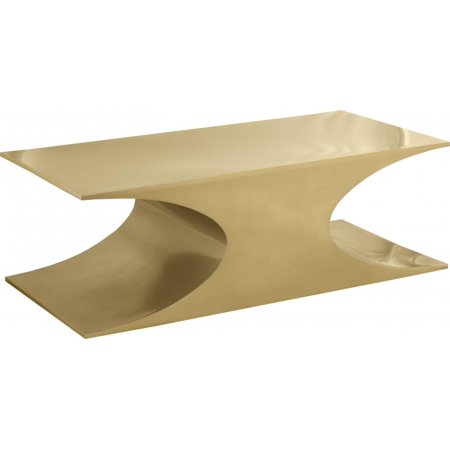 Gold Metal Finish Coffee Table Contemporary Meridian Furniture Russo