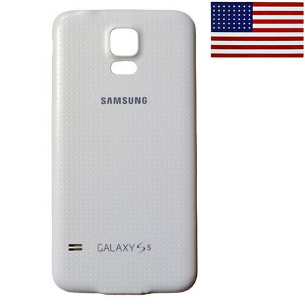 save off ea65b 56333 Waterproof Back Door Battery Cover for Samsung Galaxy S5- White w ...
