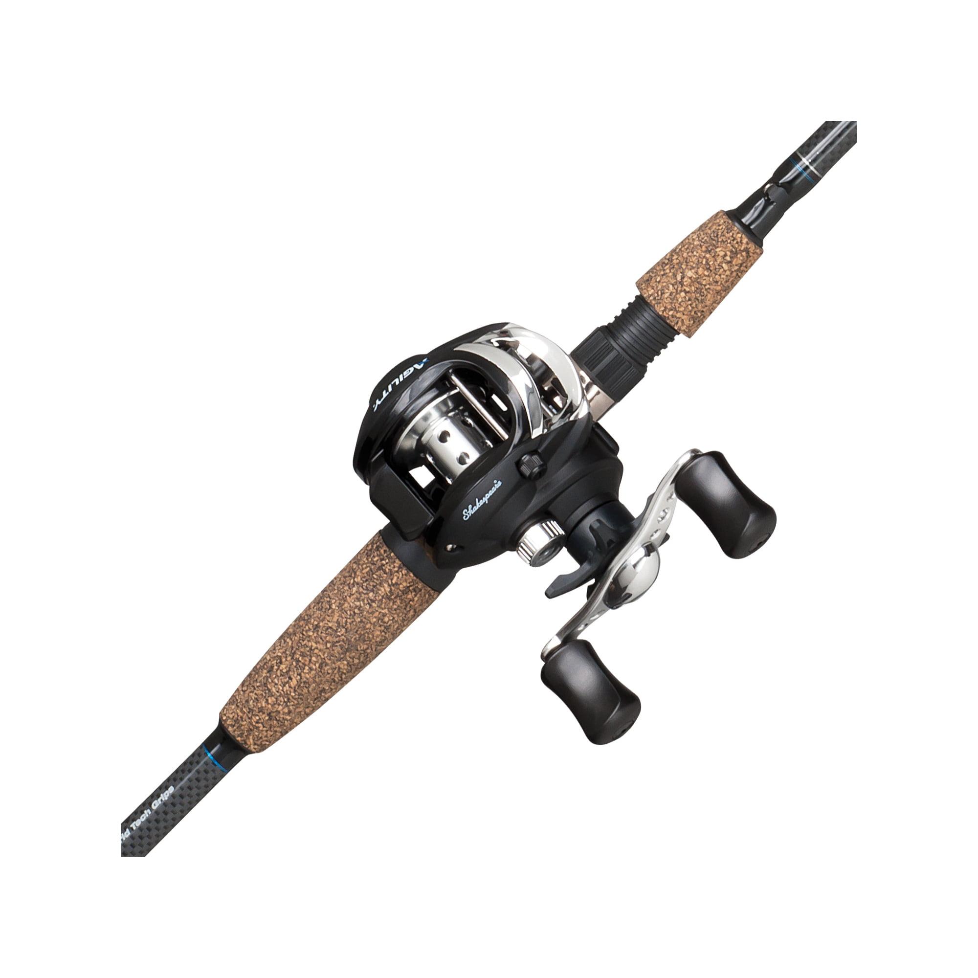 Shakespeare Agility Low Profile Baitcast Reel and Fishing Rod Combo