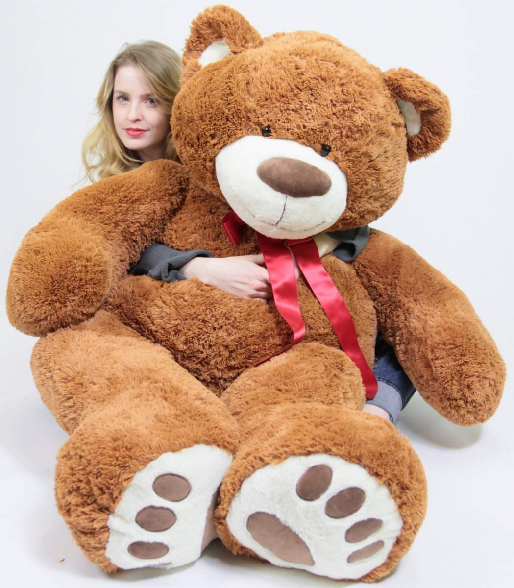 5 Foot Very Big Smiling Teddy Bear 60 Inch Soft Brown Giant Stuffed Animal with Bigfoot Paws by BigPlush