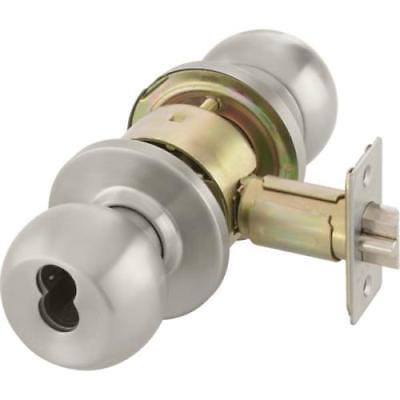 Yale Entrance Function Cylindrical Knob Lockset Grade 2 Satin Stainless