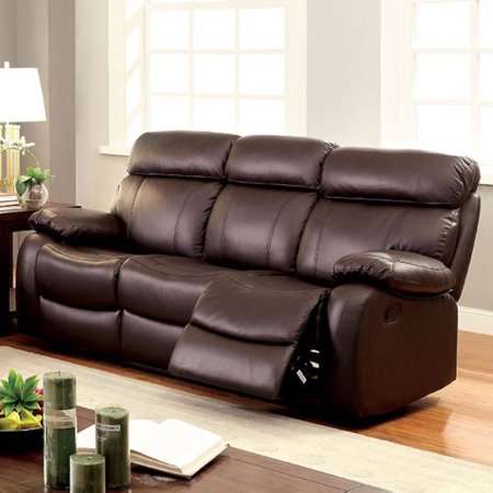 Top Grain Leather Recliner Sofa, (Reclining Traditional Sofa)