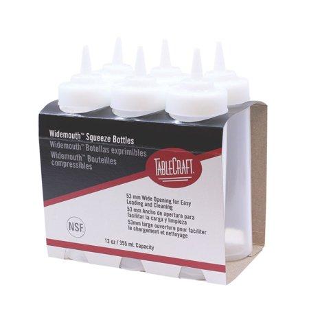- TableCraft C11253C Wide Natural 12 Ounce Squeeze Dispenser - 6 / PK