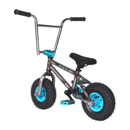"""Kobe """"Rusty Rat Rod"""" Mini BMX - Off-Road to Skate Park, Freestyle, Trick, Stunt Bicycle 10"""" Wheels for Adults and Kids - Blue - image 5 de 12"""