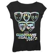 Girls' Foil Character Badges Graphic T-Shirt