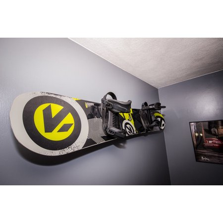 - Naked Snow | Snowboard Display Wall Rack | Powder Coat Black - Large | StoreYourBoard