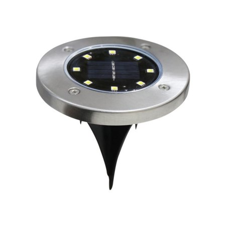 Brand New Stainless steel outdoor courtyard ground rainproof solar underground light - image 1 de 6