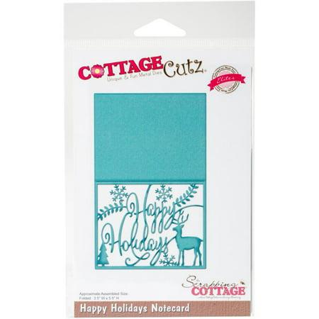 Christmas Notecard.Cottagecutz Elites Die Merry Christmas Notecard 5 5 X3 5 Fold