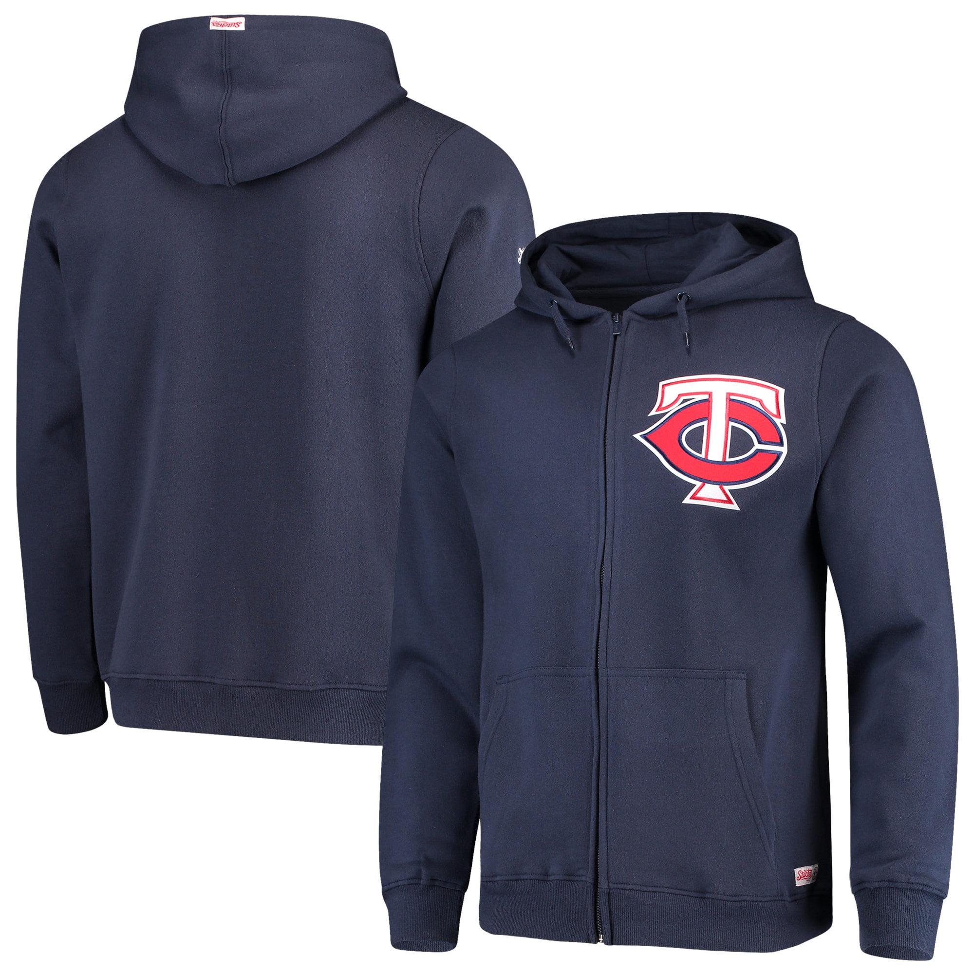 Minnesota Twins Stitches Fleece Full-Zip Hoodie - Navy