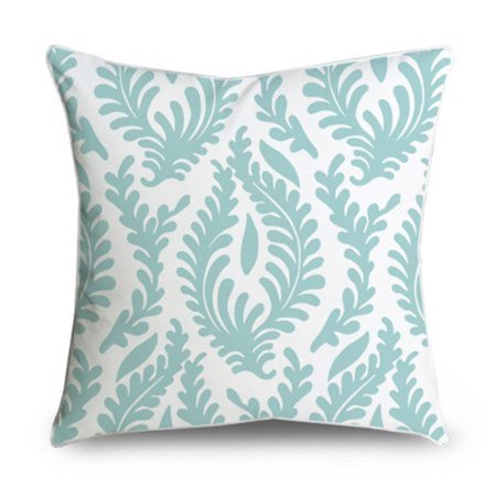 Floral Accent Pillow - Popeven Abstract Floral Light-Blue Lovely Throw Pillow Case Decorative Accent Pillow Covers Canvas Pillow Case 18 x 18'' for couch Home Decor Office Cushion Cover